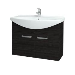 Dřevojas - Koupelnová skříň TAKE IT SZD2 85 - D14 Basalt / Úchytka T01 / D14 Basalt (151188A)