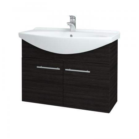 Dřevojas - Koupelnová skříň TAKE IT SZD2 85 - D14 Basalt / Úchytka T02 / D14 Basalt (151188B)
