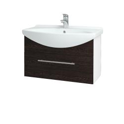 Dřevojas - Koupelnová skříň TAKE IT SZZ 75 - N01 Bílá lesk / Úchytka T02 / D08 Wenge (152529B)