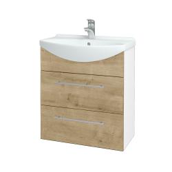 Dřevojas - Koupelnová skříň TAKE IT SZZ2 65 - N01 Bílá lesk / Úchytka T02 / D09 Arlington (152895B)