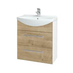 Dřevojas - Koupelnová skříň TAKE IT SZZ2 65 - N01 Bílá lesk / Úchytka T03 / D09 Arlington (152895C)