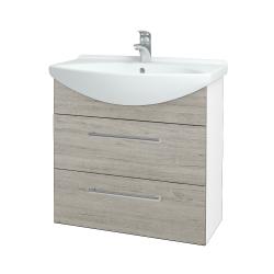 Dřevojas - Koupelnová skříň TAKE IT SZZ2 75 - N01 Bílá lesk / Úchytka T03 / D05 Oregon (152956C)