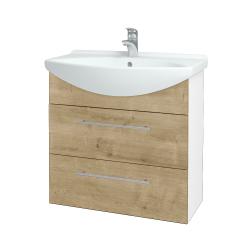 Dřevojas - Koupelnová skříň TAKE IT SZZ2 75 - N01 Bílá lesk / Úchytka T02 / D09 Arlington (152987B)