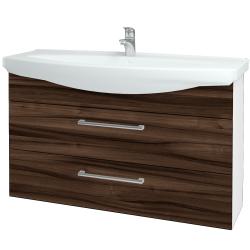 Dřevojas - Koupelnová skříň TAKE IT SZZ2 120 - N01 Bílá lesk / Úchytka T03 / D06 Ořech (153281C)