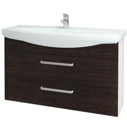 Dřevojas - Koupelnová skříň TAKE IT SZZ2 120 - N01 Bílá lesk / Úchytka T01 / D08 Wenge (153298A)