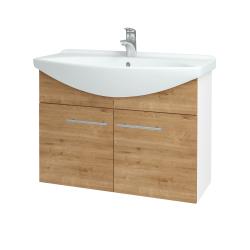 Dřevojas - Koupelnová skříň TAKE IT SZD2 85 - N01 Bílá lesk / Úchytka T02 / D09 Arlington (152178B)