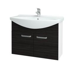 Dřevojas - Koupelnová skříň TAKE IT SZD2 85 - N01 Bílá lesk / Úchytka T01 / D14 Basalt (152185A)