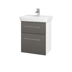 Dřevojas - Koupelnová skříň GO SZZ2 50 - N01 Bílá lesk / Úchytka T02 / N06 Lava (204549B)