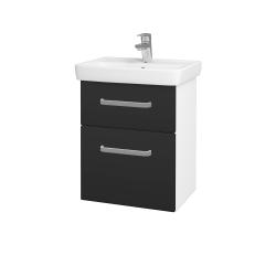 Dřevojas - Koupelnová skříň GO SZZ2 50 - N01 Bílá lesk / Úchytka T01 / N03 Graphite (204617A)