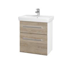 Dřevojas - Koupelnová skříň GO SZZ2 55 - N01 Bílá lesk / Úchytka T03 / D17 Colorado (204709C)