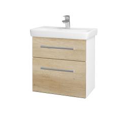 Dřevojas - Koupelnová skříň GO SZZ2 60 - N01 Bílá lesk / Úchytka T03 / D15 Nebraska (204877C)