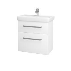 Dřevojas - Koupelnová skříň GO SZZ2 60 - N01 Bílá lesk / Úchytka T01 / M01 Bílá mat (204907A)