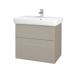 Dřevojas - Koupelnová skříň Q MAX SZZ2 70 - M05 Béžová mat / Úchytka T02 / M05 Béžová mat (198381B)