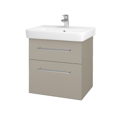 Dřevojas - Koupelnová skříň Q MAX SZZ2 60 - M05 Béžová mat / Úchytka T03 / M05 Béžová mat (198343C)