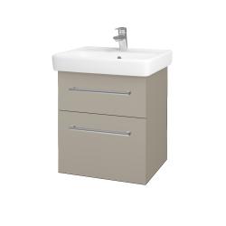 Dřevojas - Koupelnová skříň Q MAX SZZ2 55 - M05 Béžová mat / Úchytka T03 / M05 Béžová mat (198015C)