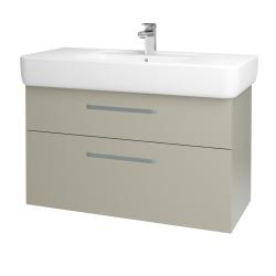 Dřevojas - Koupelnová skříň Q MAX SZZ2 100 - M05 Béžová mat / Úchytka T01 / M05 Béžová mat (198787A)