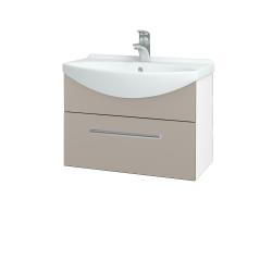 Dřevojas - Koupelnová skříň TAKE IT SZZ 65 - N01 Bílá lesk / Úchytka T03 / N07 Stone (206741C)
