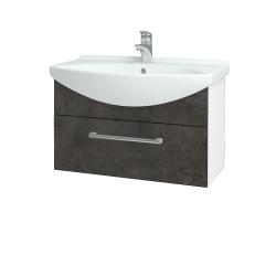 Dřevojas - Koupelnová skříň TAKE IT SZZ 75 - N01 Bílá lesk / Úchytka T03 / D16 Beton tmavý (206864C)