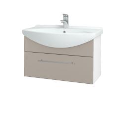 Dřevojas - Koupelnová skříň TAKE IT SZZ 75 - N01 Bílá lesk / Úchytka T02 / N07 Stone (206901B)