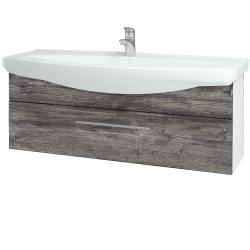 Dřevojas - Koupelnová skříň TAKE IT SZZ 120 - N01 Bílá lesk / Úchytka T02 / D10 Borovice Jackson (207328B)