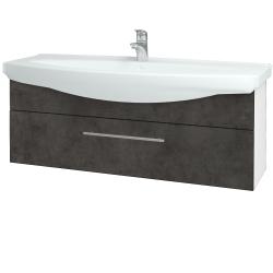 Dřevojas - Koupelnová skříň TAKE IT SZZ 120 - N01 Bílá lesk / Úchytka T02 / D16 Beton tmavý (207342B)