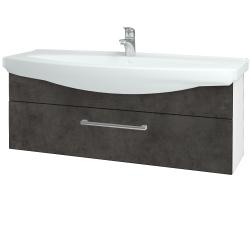 Dřevojas - Koupelnová skříň TAKE IT SZZ 120 - N01 Bílá lesk / Úchytka T03 / D16 Beton tmavý (207342C)