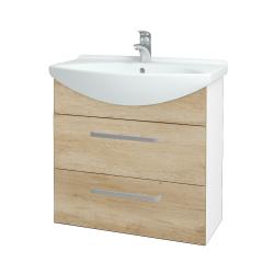 Dřevojas - Koupelnová skříň TAKE IT SZZ2 75 - N01 Bílá lesk / Úchytka T01 / D15 Nebraska (207656A)