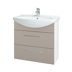 Dřevojas - Koupelnová skříň TAKE IT SZZ2 75 - N01 Bílá lesk / Úchytka T01 / N07 Stone (207700A)