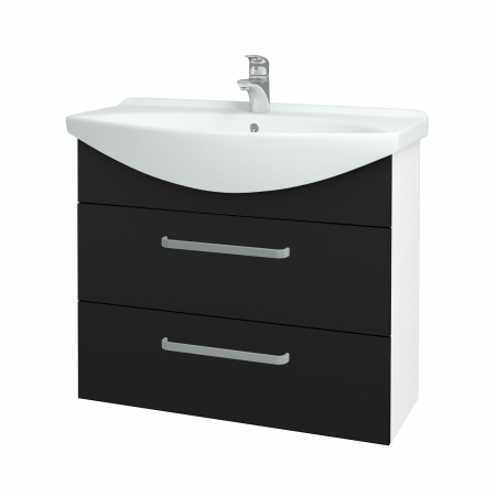 Dřevojas - Koupelnová skříň TAKE IT SZZ2 85 - N01 Bílá lesk / Úchytka T01 / N08 Cosmo (207878A)