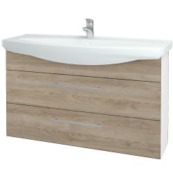 Dřevojas - Koupelnová skříň TAKE IT SZZ2 120 - N01 Bílá lesk / Úchytka T02 / D17 Colorado (208158B)