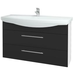 Dřevojas - Koupelnová skříň TAKE IT SZZ2 120 - N01 Bílá lesk / Úchytka T02 / N03 Graphite (208165B)