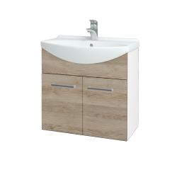 Dřevojas - Koupelnová skříň TAKE IT SZD2 65 - N01 Bílá lesk / Úchytka T03 / D17 Colorado (205911C)