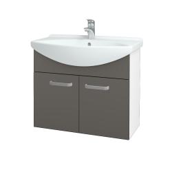 Dřevojas - Koupelnová skříň TAKE IT SZD2 75 - N01 Bílá lesk / Úchytka T01 / N06 Lava (206093A)
