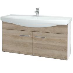 Dřevojas - Koupelnová skříň TAKE IT SZD2 120 - N01 Bílá lesk / Úchytka T03 / D17 Colorado (206550C)