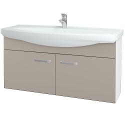 Dřevojas - Koupelnová skříň TAKE IT SZD2 120 - N01 Bílá lesk / Úchytka T01 / N07 Stone (206581A)