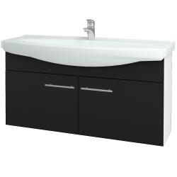 Dřevojas - Koupelnová skříň TAKE IT SZD2 120 - N01 Bílá lesk / Úchytka T02 / N08 Cosmo (206598B)