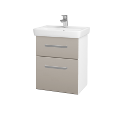 Dřevojas - Koupelnová skříň GO SZZ2 50 - N01 Bílá lesk / Úchytka T01 / N07 Stone (204556A)
