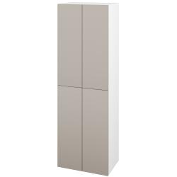 Dřevojas - Skříň vysoká DOS SVD4 50 - N01 Bílá lesk / Bez úchytky T31 / N07 Stone (209360D)