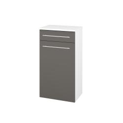 Dřevojas - Skříň spodní DOS SNDKZ 50 - N01 Bílá lesk / Úchytka T02 / N06 Lava (211240B)