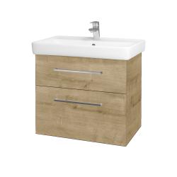 Dřevojas - Koupelnová skříň Q MAX SZZ2 70 - D09 Arlington / Úchytka T04 / D09 Arlington (115401E)