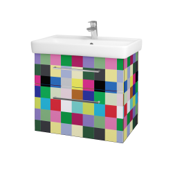 Dřevojas - Koupelnová skříň Q MAX SZZ2 70 - IND Individual / Úchytka T04 / IND Individual (115463E)
