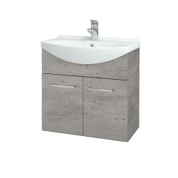 Dřevojas - Koupelnová skříň TAKE IT SZD2 65 - D01 Beton / Úchytka T04 / D01 Beton (133238E)
