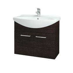 Dřevojas - Koupelnová skříň TAKE IT SZD2 75 - D08 Wenge / Úchytka T04 / D08 Wenge (133368E)