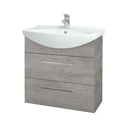 Dřevojas - Koupelnová skříň TAKE IT SZZ2 75 - D01 Beton / Úchytka T04 / D01 Beton (133894E)