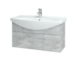 Dřevojas - Koupelnová skříň TAKE IT SZZ 85 - D01 Beton / Úchytka T04 / D01 Beton (133962E)