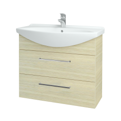 Dřevojas - Koupelnová skříň TAKE IT SZZ2 85 - D04 Dub / Úchytka T04 / D04 Dub (134068E)