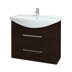 Dřevojas - Koupelnová skříň TAKE IT SZZ2 85 - D08 Wenge / Úchytka T04 / D08 Wenge (134099E)