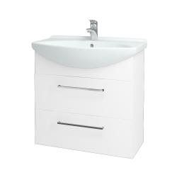 Dřevojas - Koupelnová skříň TAKE IT SZZ2 75 - N01 Bílá lesk / Úchytka T04 / N01 Bílá lesk (134440E)