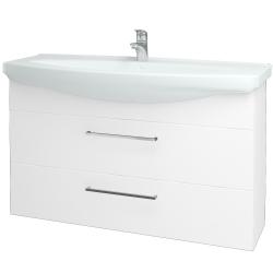 Dřevojas - Koupelnová skříň TAKE IT SZZ2 120 - N01 Bílá lesk / Úchytka T04 / N01 Bílá lesk (134471E)