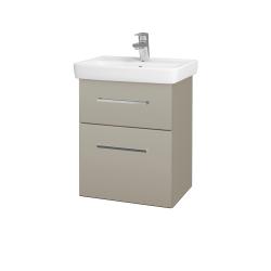 Dřevojas - Koupelnová skříň GO SZZ2 50 - L04 Béžová vysoký lesk / Úchytka T04 / L04 Béžová vysoký lesk (148263E)